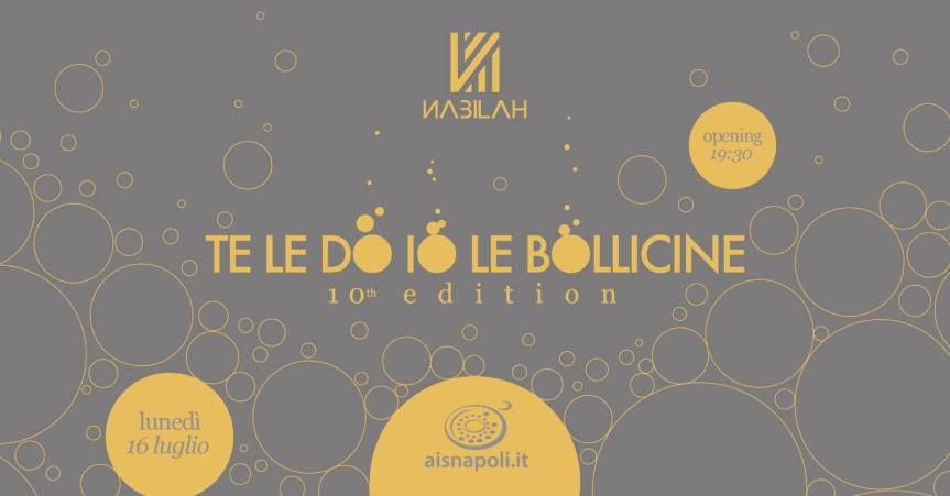 "EVENTI: ""Te le do io le Bollicine"""