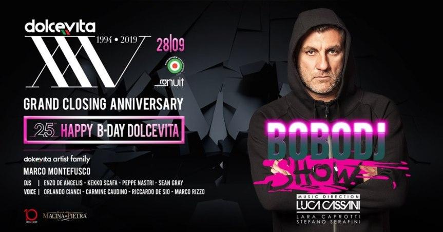 """""""Bobo DJ Show"""" per la prima volta in Campania: Vieri in consolle alDolcevita"""